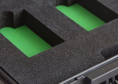 kofferinterieur groen